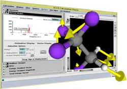Screen shot of Viewer with a molecule